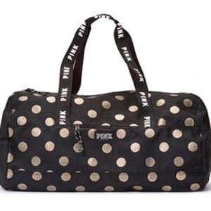 PINK Victoria's Secret Polka Dot Duffle Bag